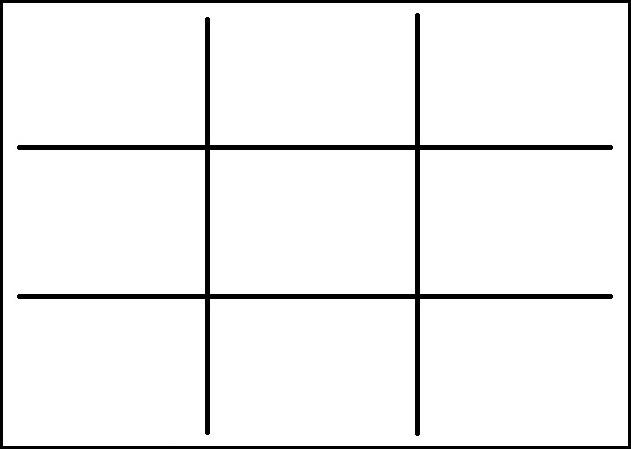 Kompozíciós technikák: a harmadolás szabály
